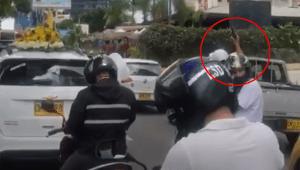 Motociclista hizo disparos al aire en plena calle 60 de Ibagué