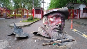 Monumento de Andrés López de Galarza no volvería a ser ubicado en el viaducto del Sena