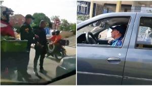 Motociclista reventó el vidrio de un conductor y lo hirió en la calle 60 con Guabinal