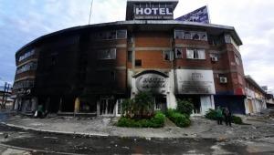 Reconocido hotel de Cali fue quemado por hospedar integrantes de la fuerza pública