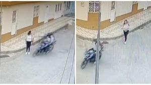 Nueva víctima de hurto: video de cámara de seguridad captó 'raponazo' en Ibagué