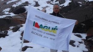 En el Nevado del Tolima, Guillermo A. Jaramillo se comprometió a defender el agua y a luchar contra la minería