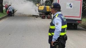 Atención: fuga de gas en una tubería de la calle 103 de Ibagué provoca problemas de movilidad