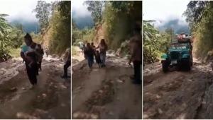 Lo que deben vivir los campesinos cada vez que los aguaceros afectan la vía Ibagué - China Alta