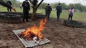 Policía destruyó cerca de 4.000 armas blancas que habían sido incautadas en Ibagué