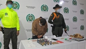 Capturan en flagrancia a un hombre por comercializar bazuco, LSD y Popper en Ibagué