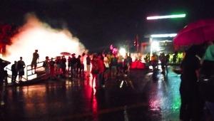 Cajeros eléctricos quemados y nuevos choques entre manifestantes y el Esmad en el norte de Ibagué
