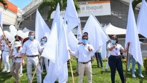 Comerciantes en Ibagué piden paz durante manifestaciones por el paro nacional