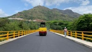 Puente que conecta a Gualanday con San Luis será entregado a finales de mayo