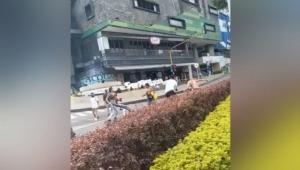 Nueva pelea entre manifestantes y motociclistas por bloqueos en la calle 60 de Ibagué