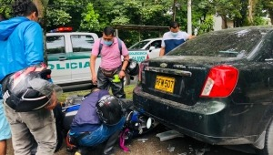Una persona resultó herido por accidente de tránsito en la Avenida Ambalá de Ibagué