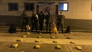 Incautaron 13 kilogramos de marihuana en un bus que cubría la ruta Cali - Bogotá