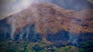 Incendio afectó 60 héctareas del cerro 'El Rusio', ubicado al oriente del Tolima