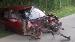 Aparatoso accidente en la vía Fresno - Manizales habría dejado cuatro personas lesionadas