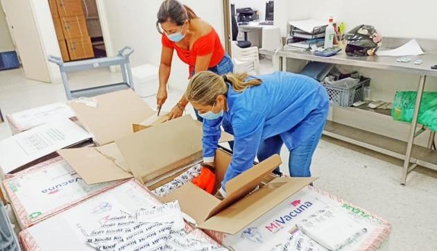 Llegaron más de 60.000 vacunas de Moderna al Tolima