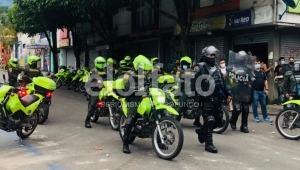 Retuvieron 14 personas por disturbios este 20 de julio en Ibagué