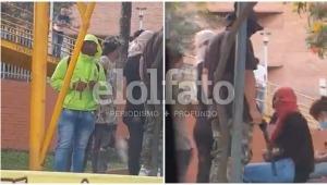 Con resorteras y bolillos encapuchados bloquean la calle 60 de Ibagué