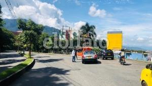 Bloqueo de la calle 60 genera congestión vial
